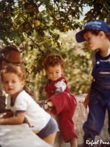 Meu avô Geraldo, Breno, Henrique e eu