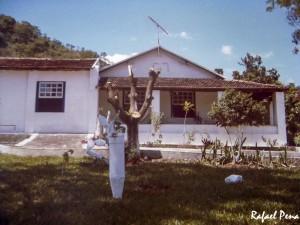 A casa sede da fazenda